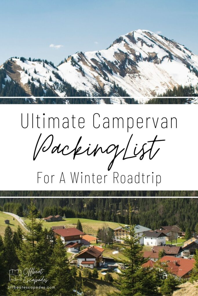 Ultimate Campervan Packing List for a winter road trip