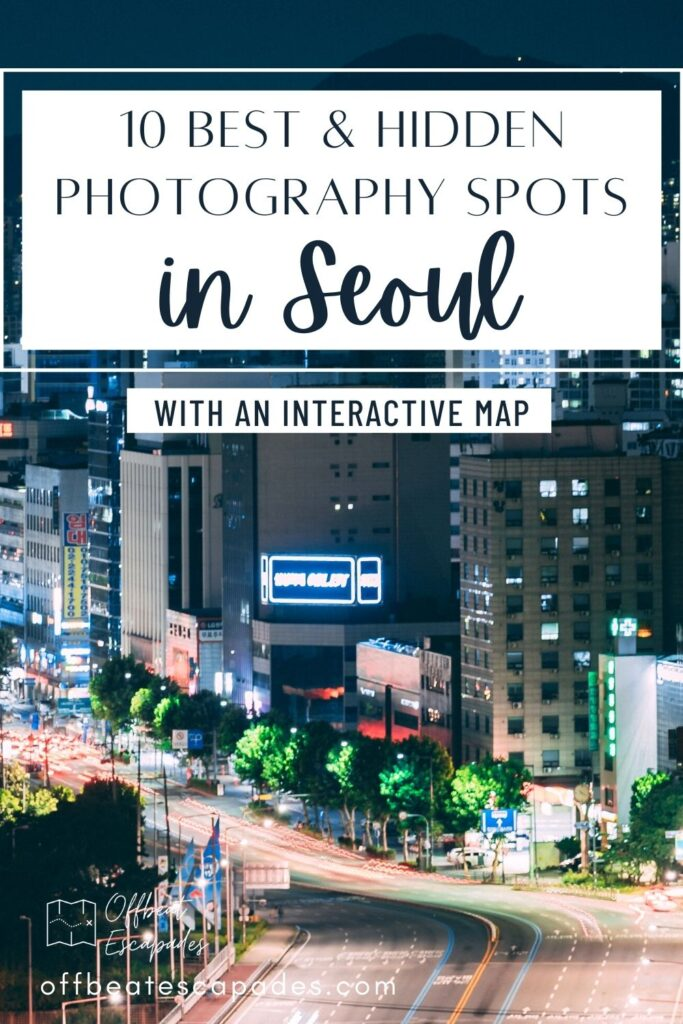 Seoul Photography Spots Pin